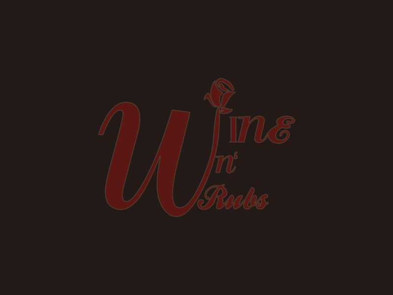 Wine'n'Rubs logo design by azizah