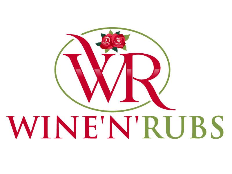 Wine'n'Rubs logo design by Pintu Das