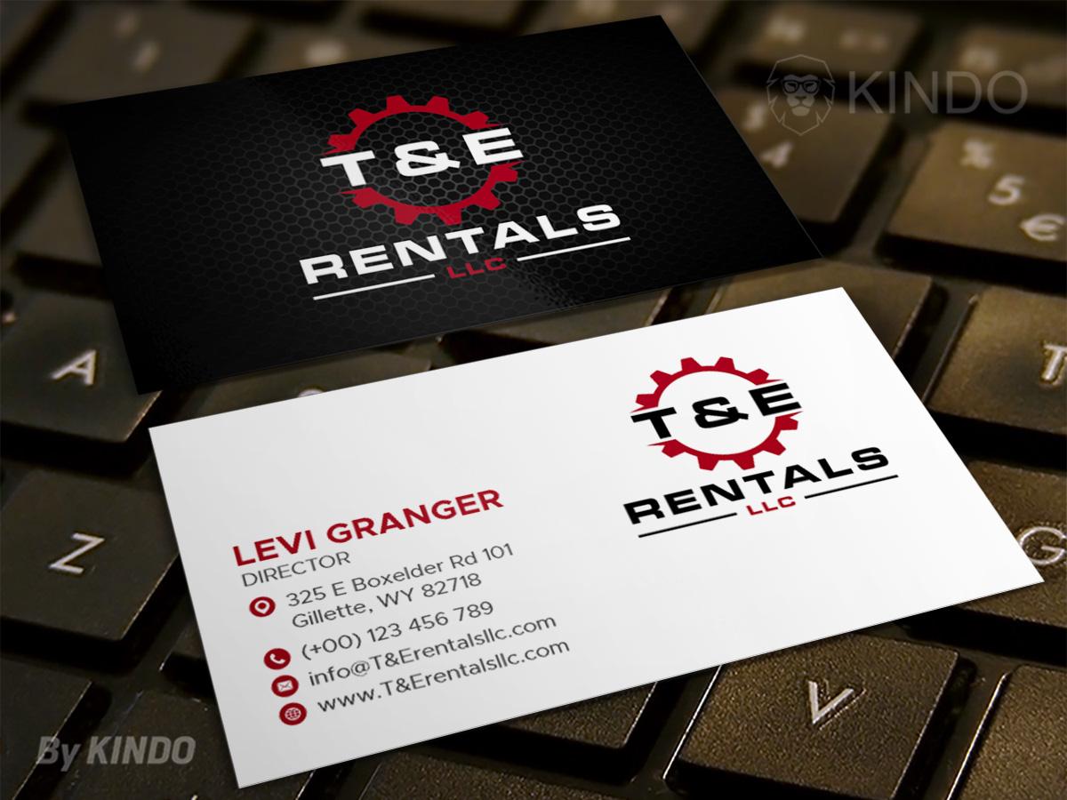 T&E Rentals LLC logo design by Kindo