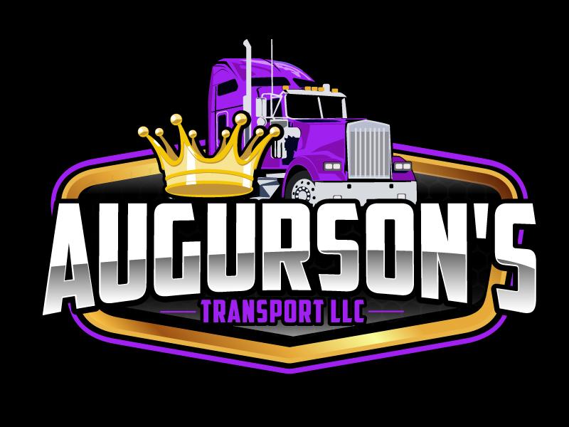 Augurson's Transport LLC logo design by ElonStark