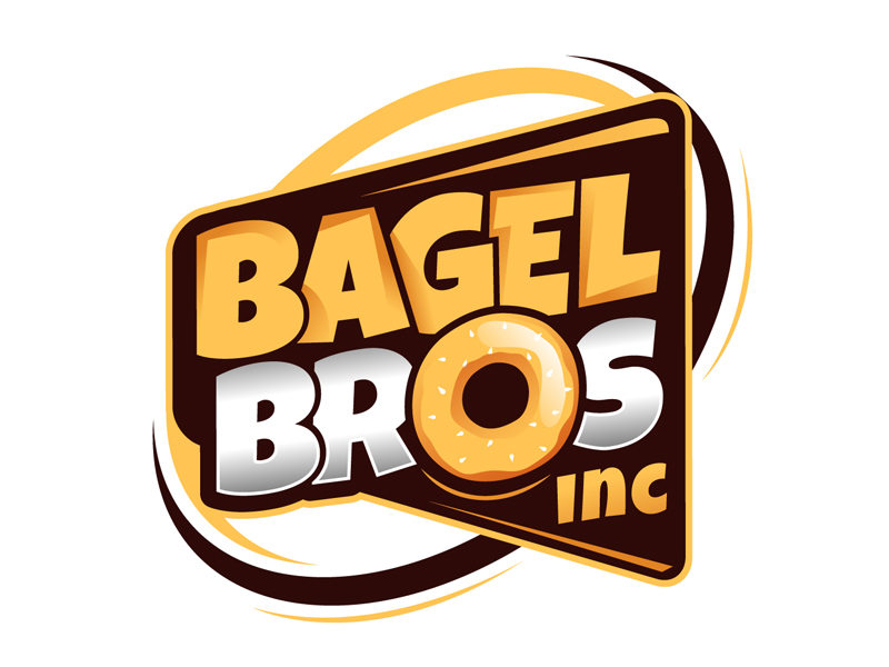 Bagel Bros logo design by DreamLogoDesign