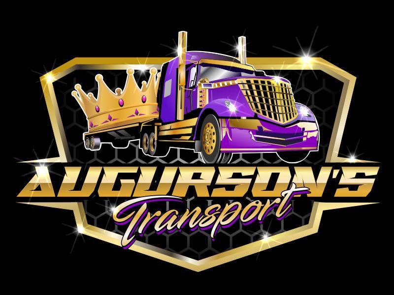 Augurson's Transport LLC logo design by bosbejo