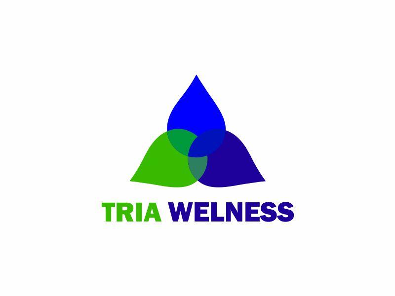 TRIA Wellness logo design by up2date
