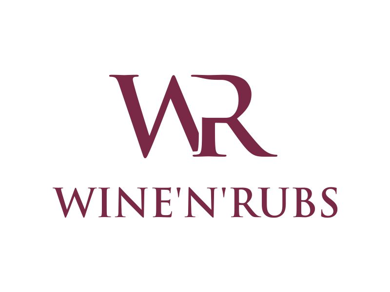 Wine'n'Rubs logo design by MUNAROH