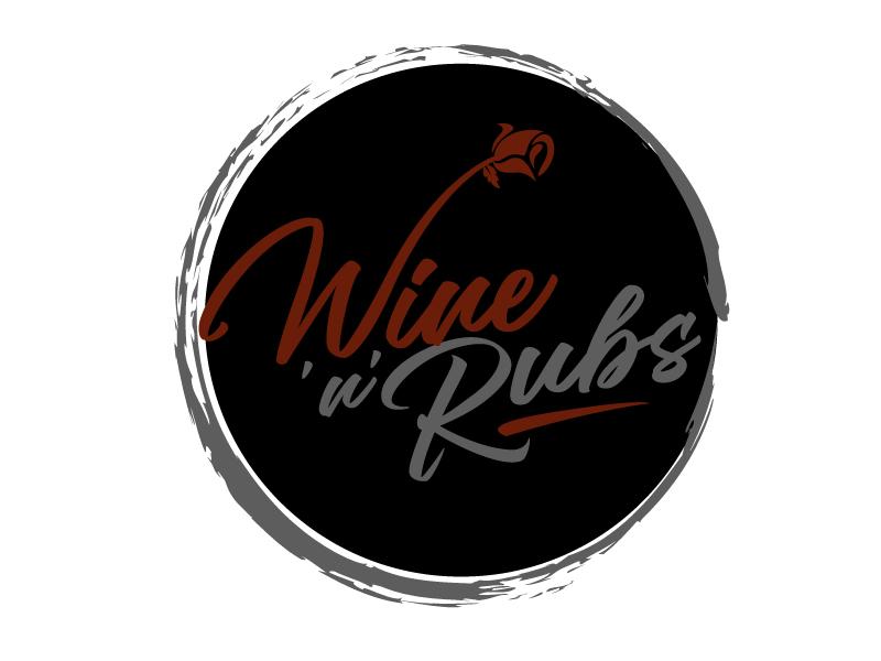 Wine'n'Rubs logo design by aRBy