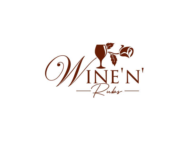 Wine'n'Rubs logo design by REDCROW