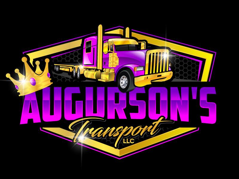 Augurson's Transport LLC logo design by jaize