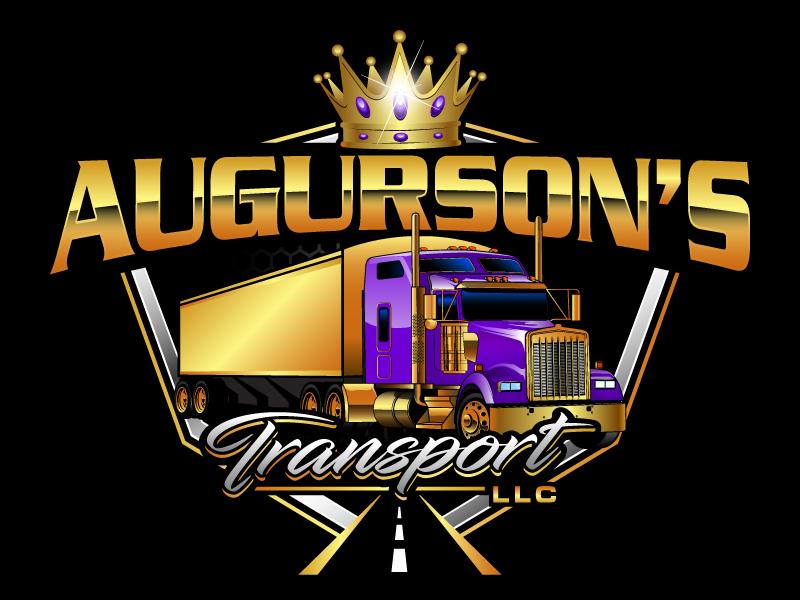 Augurson's Transport LLC logo design by daywalker
