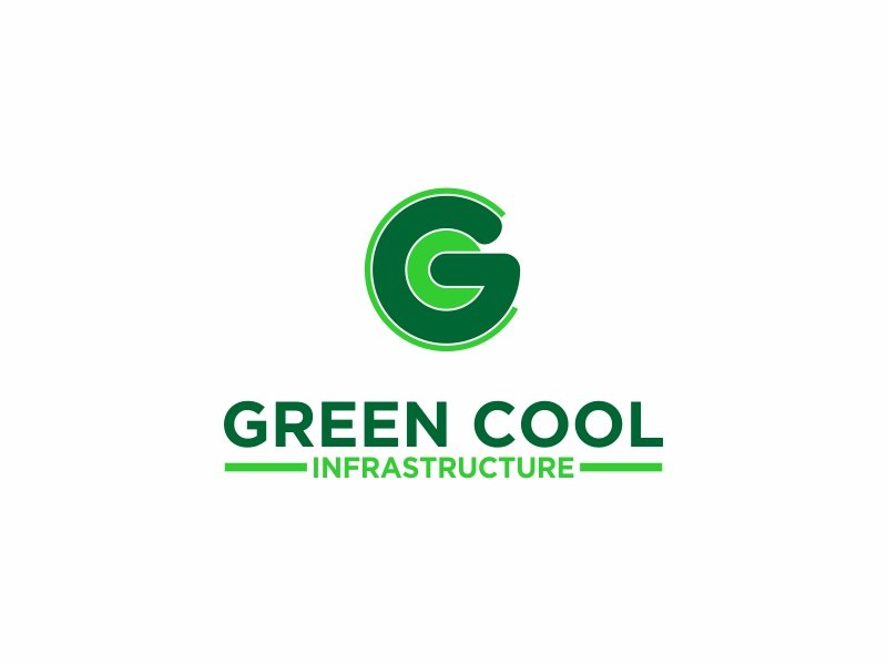 Green Cool Infrastructure logo design by banaspati