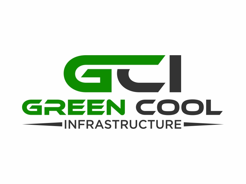 Green Cool Infrastructure logo design by fastI okay