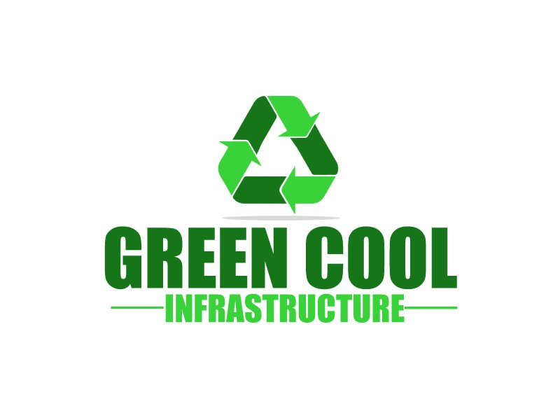 Green Cool Infrastructure logo design by ElonStark