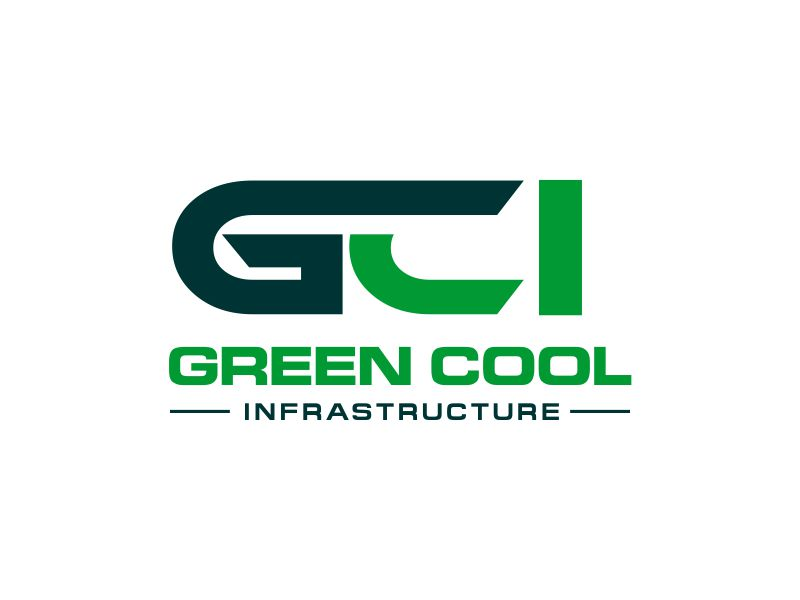 Green Cool Infrastructure logo design by kopipanas