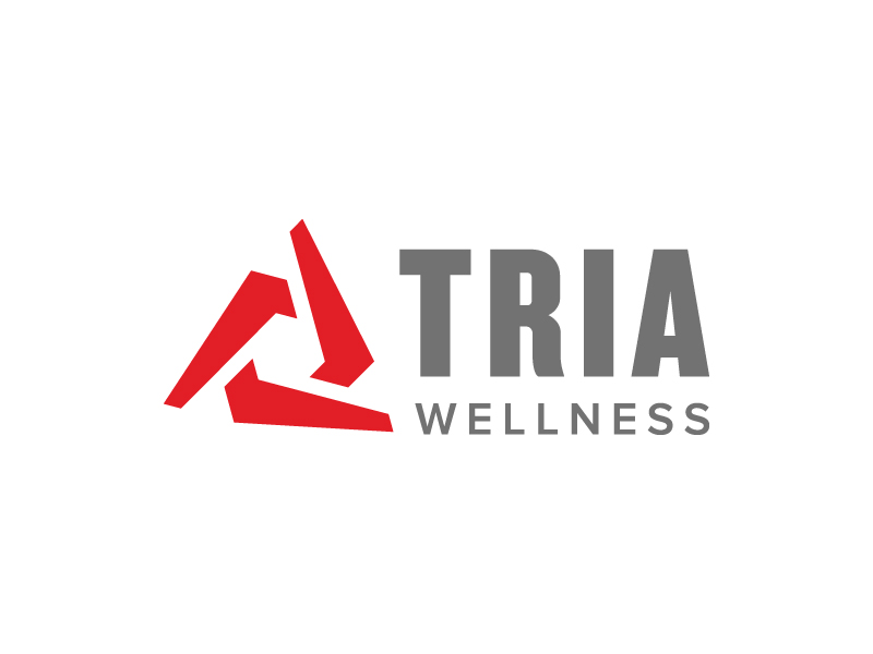 TRIA Wellness logo design by denfransko