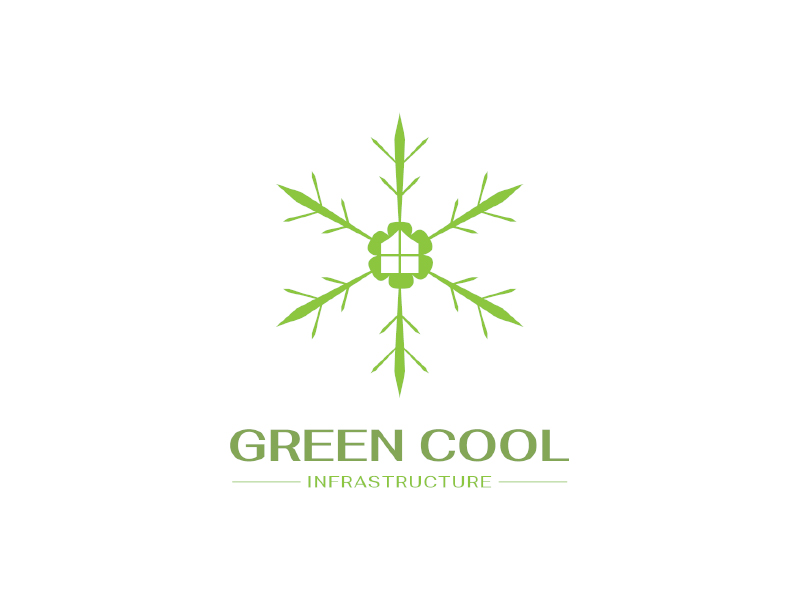 Green Cool Infrastructure logo design by planoLOGO