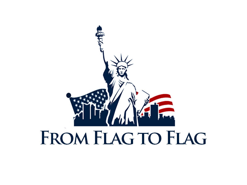 From Flag to Flag logo design by kunejo