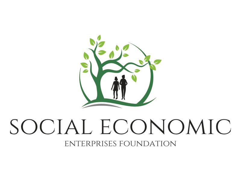 Social Economic Enterprises Foundation logo design by jetzu