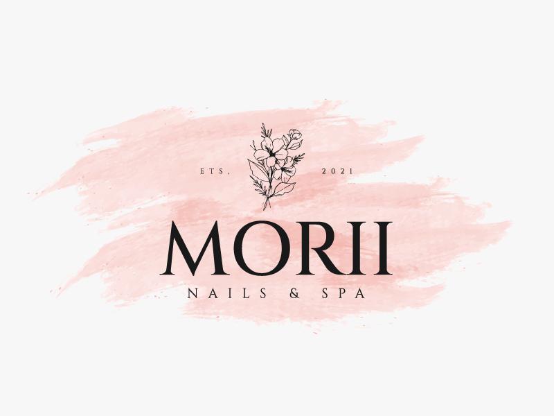 MORII NAILS & SPA logo design by Sami Ur Rab