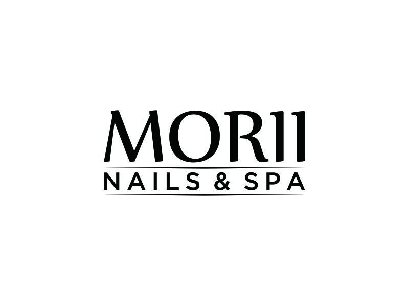 MORII NAILS & SPA logo design by blessings