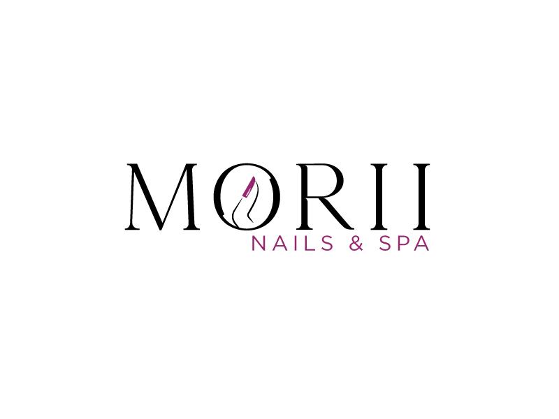 MORII NAILS & SPA logo design by Erasedink