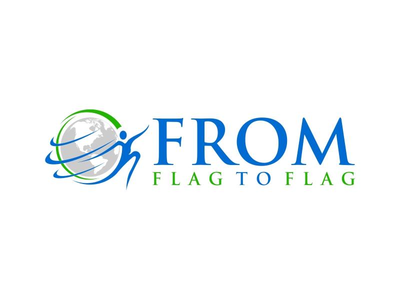From Flag to Flag logo design by luckyprasetyo