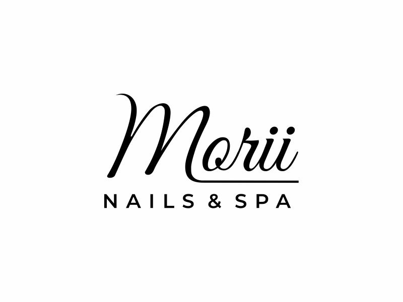 MORII NAILS & SPA logo design by mutafailan
