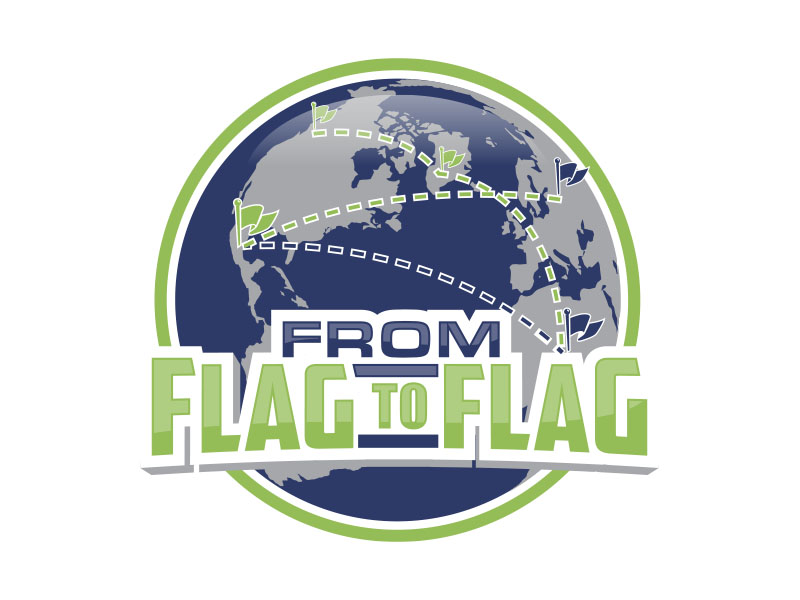 From Flag to Flag logo design by MarkindDesign™