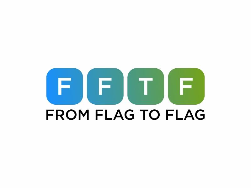 From Flag to Flag logo design by fastI okay