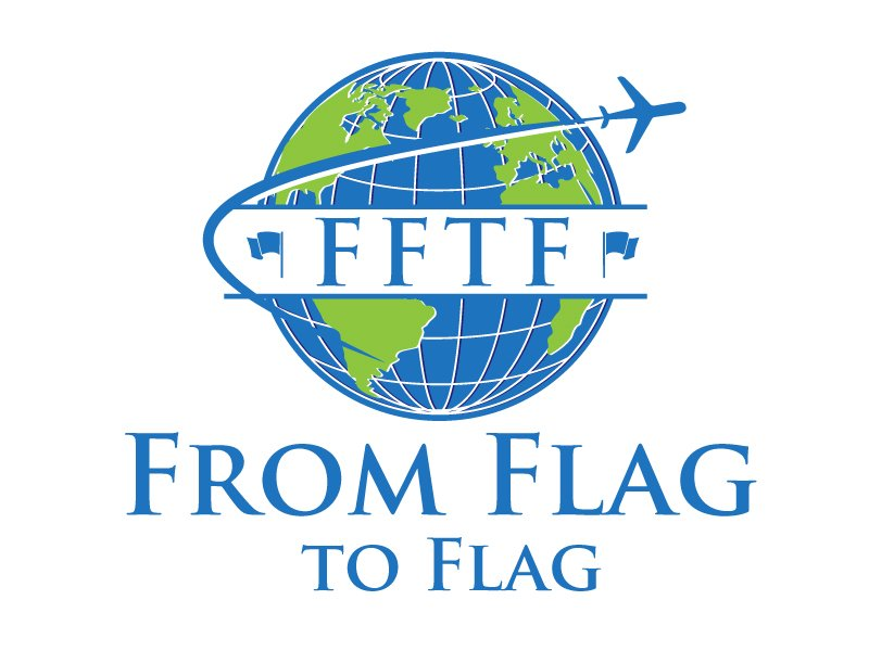 From Flag to Flag logo design by maze