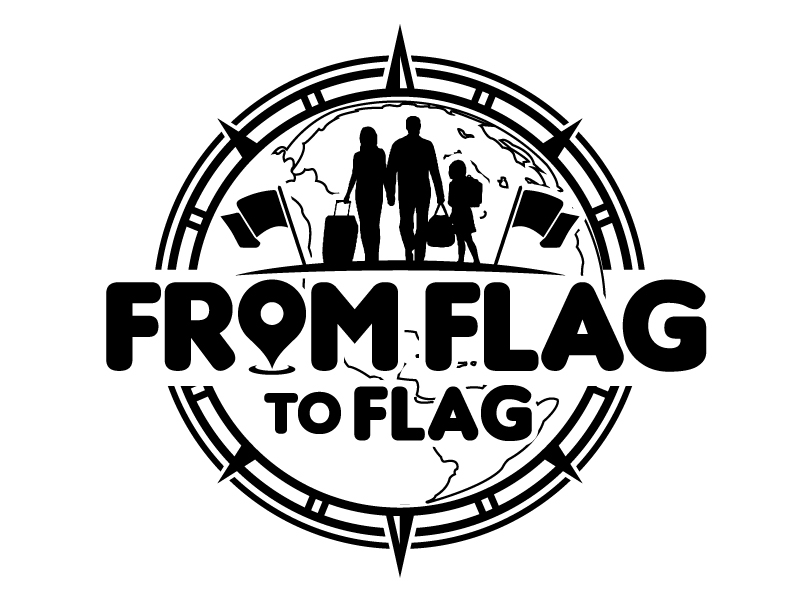 From Flag to Flag logo design by jaize