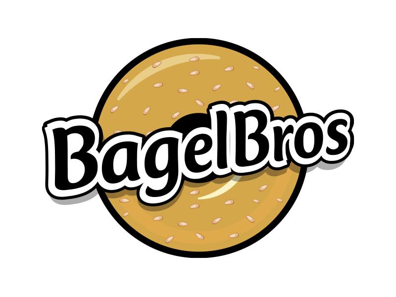 Bagel Bros logo design by MarkindDesign™