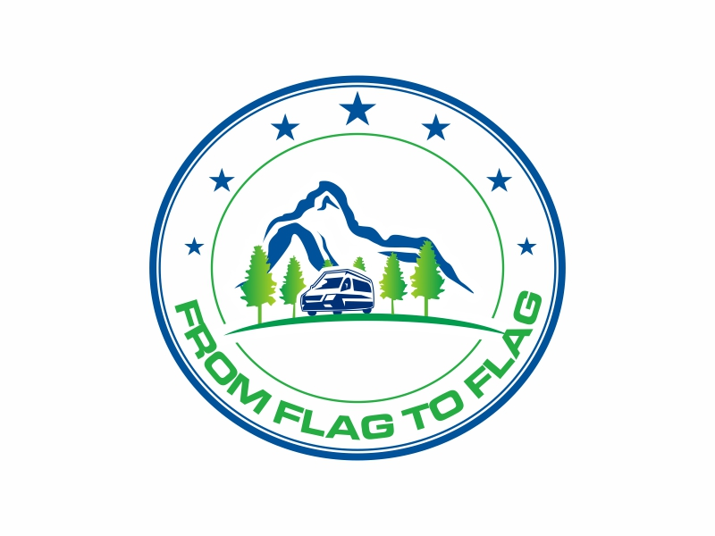 From Flag to Flag logo design by Greenlight