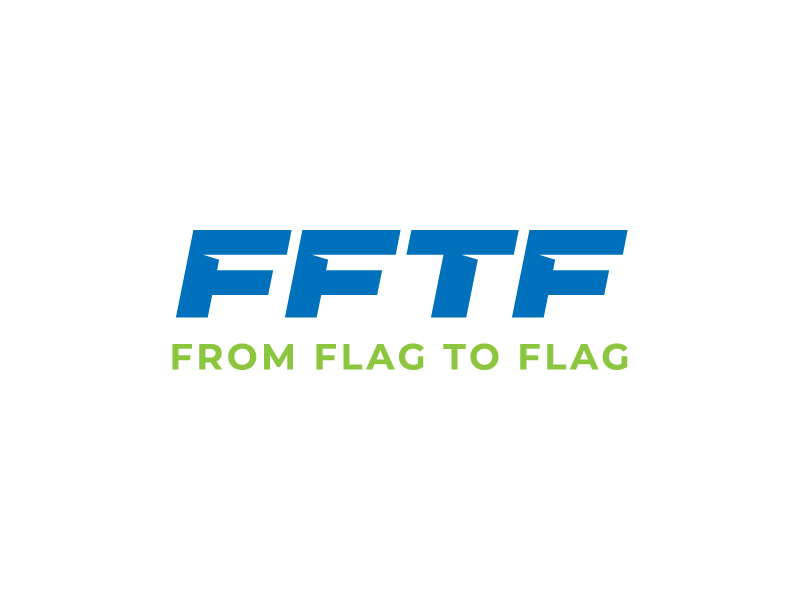 From Flag to Flag logo design by aganpiki