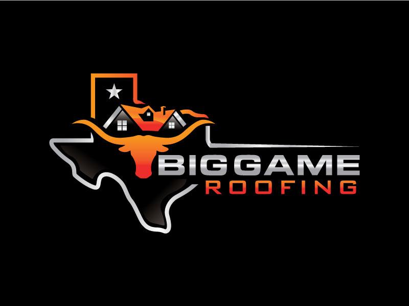 Big Game Roofing logo design by Pompi Saha