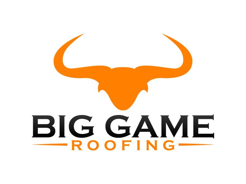 Big Game Roofing logo design by karjen
