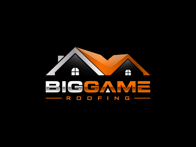 Big Game Roofing logo design by pencilhand