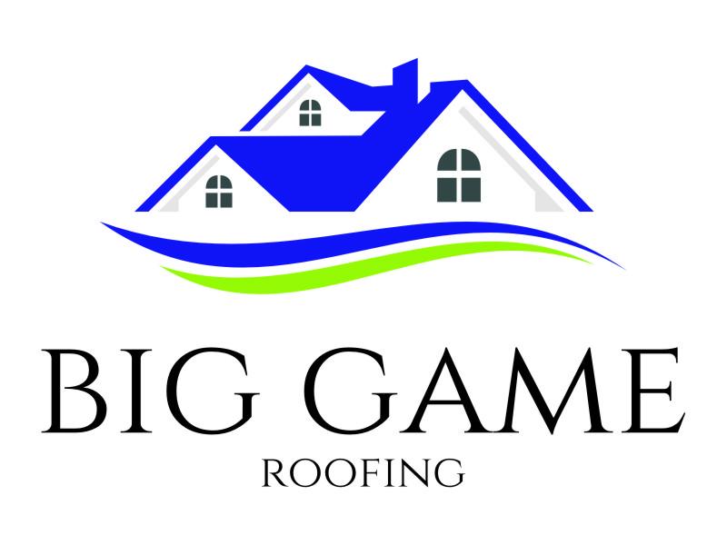 Big Game Roofing logo design by jetzu