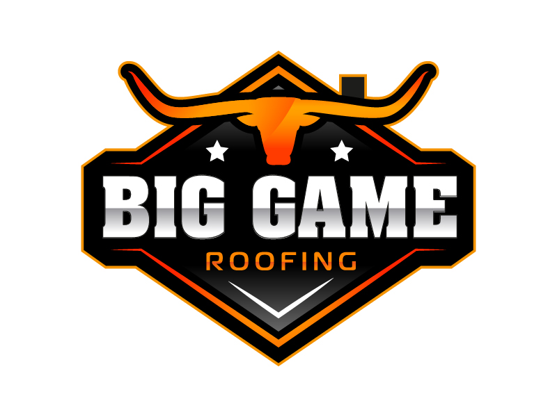 Big Game Roofing logo design by il-in
