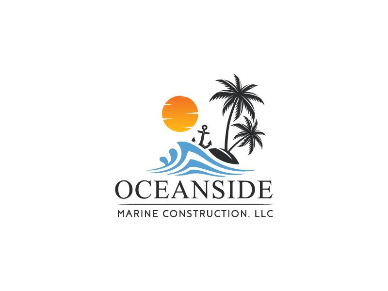 Oceanside Marine Construction, LLC logo design by Webphixo
