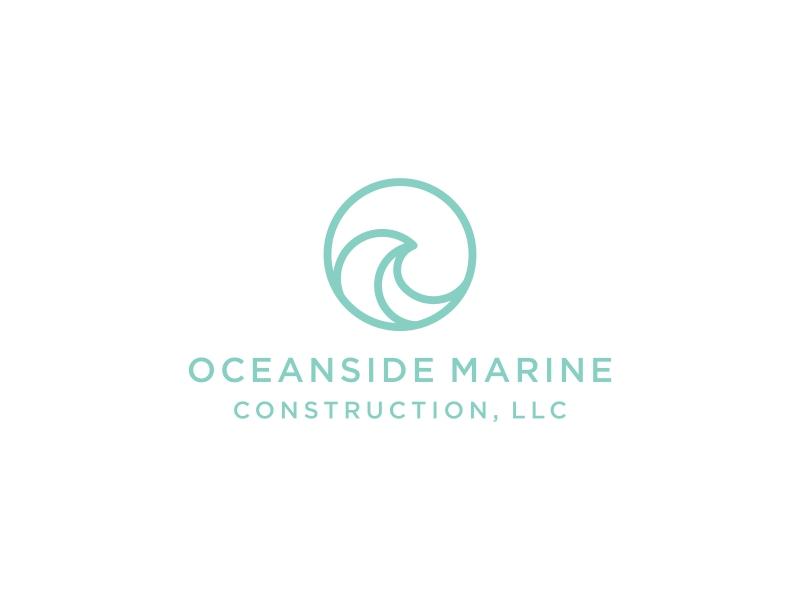 Oceanside Marine Construction, LLC logo design by vuunex