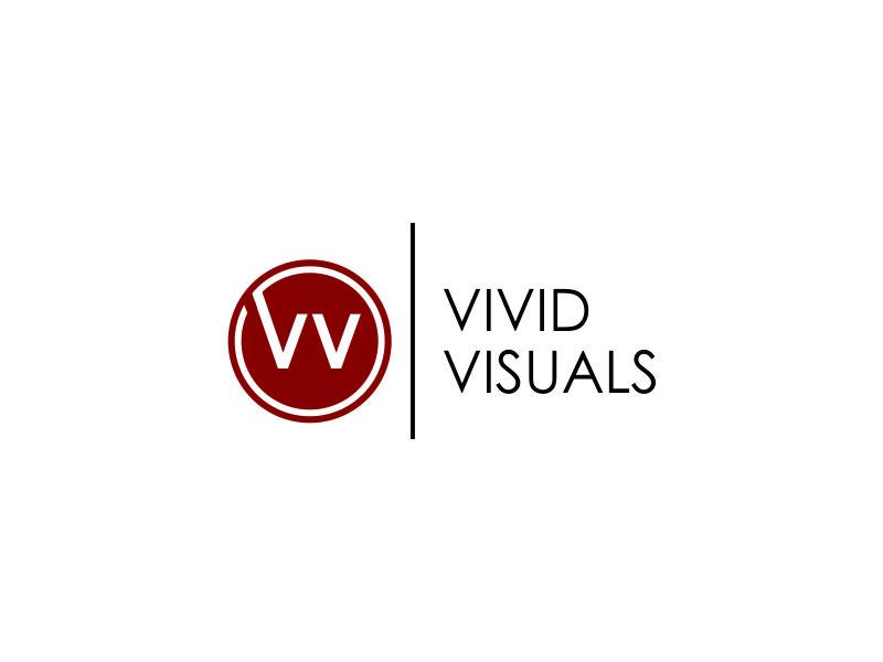 vivid visuals logo design by DYANAA