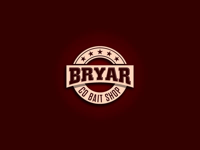 Bryar Co Bait Shop logo design by Webphixo