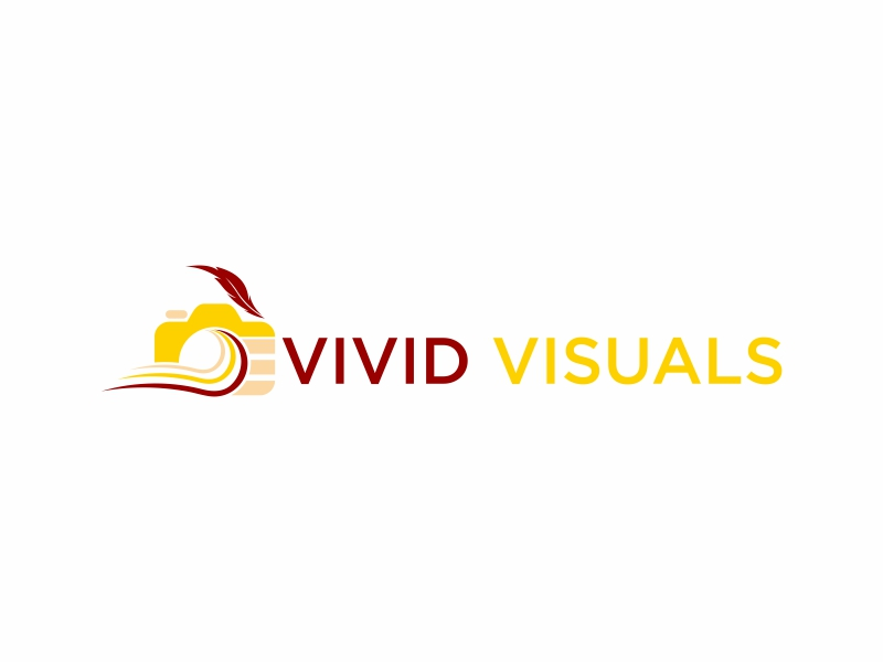 vivid visuals logo design by banaspati