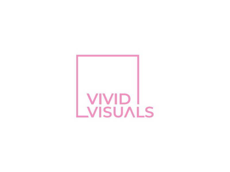 vivid visuals logo design by kimora