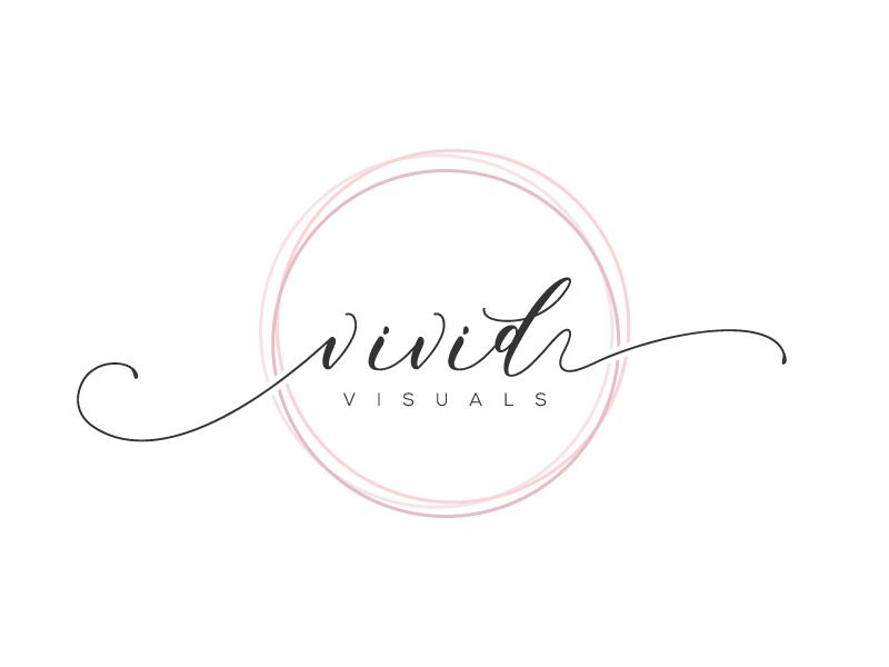 vivid visuals logo design by pencilhand