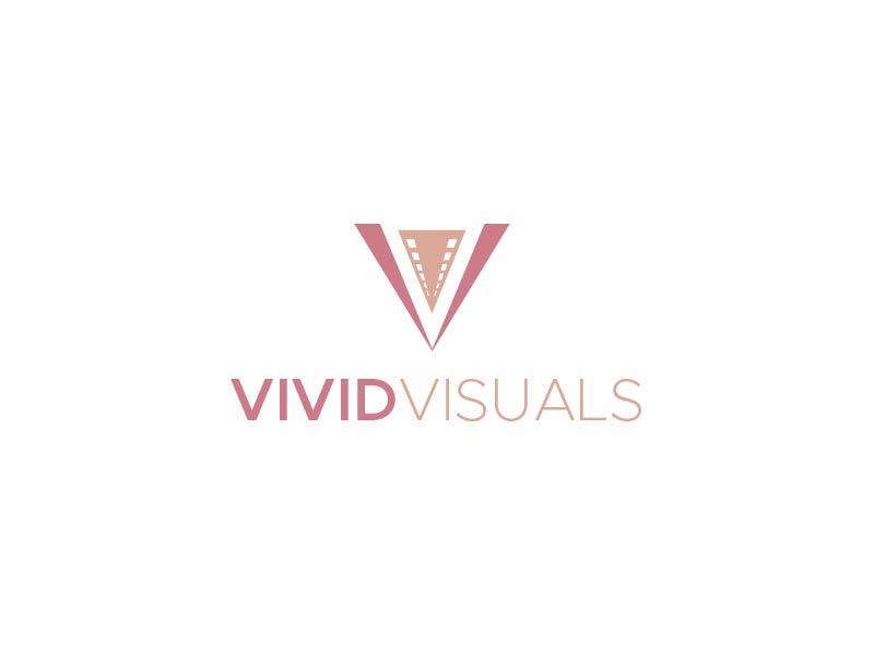 vivid visuals logo design by usef44