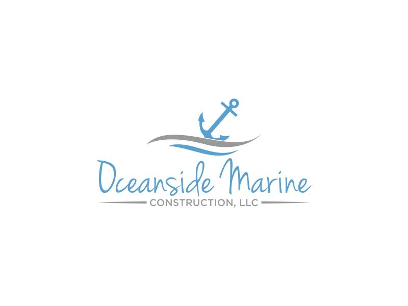 Oceanside Marine Construction, LLC logo design by luckyprasetyo