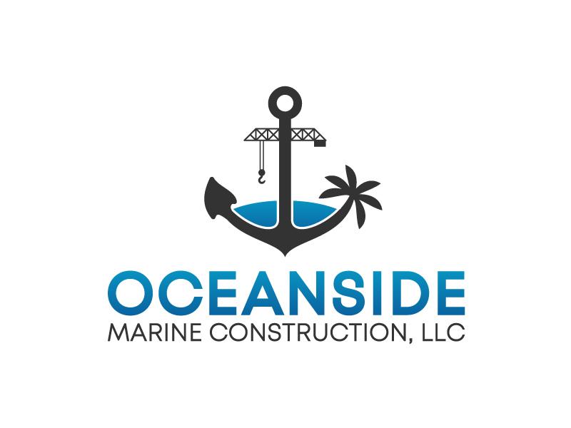 Oceanside Marine Construction, LLC logo design by betapramudya