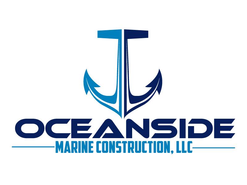 Oceanside Marine Construction, LLC logo design by ElonStark