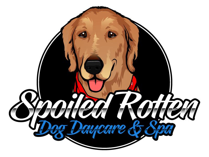 Spoiled Rotten Dog Daycare & Spa Logo Design