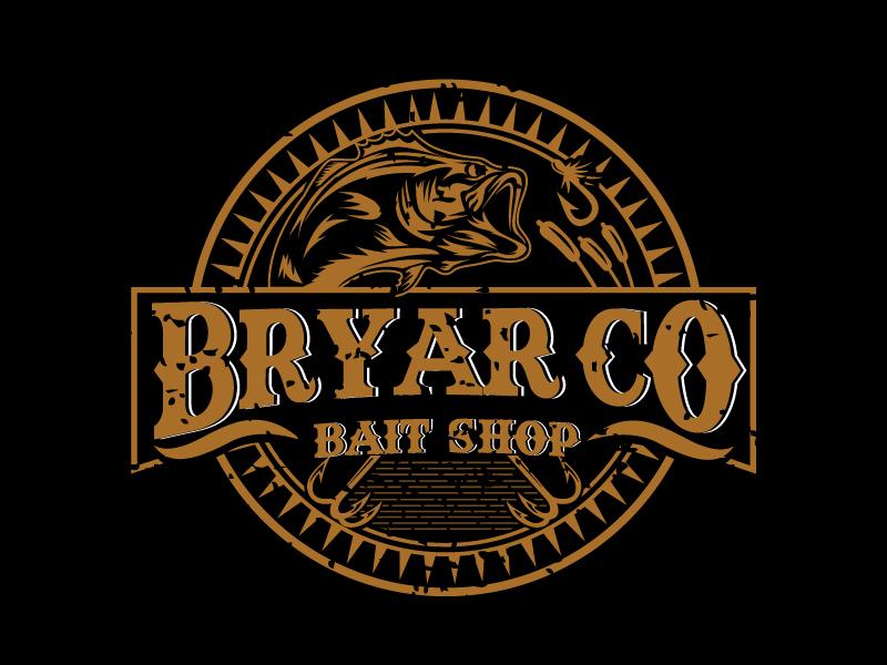 Bryar Co Bait Shop logo design by REDCROW